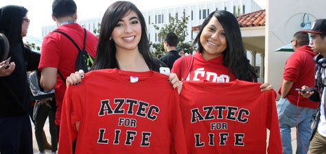students with Aztec for Life tees