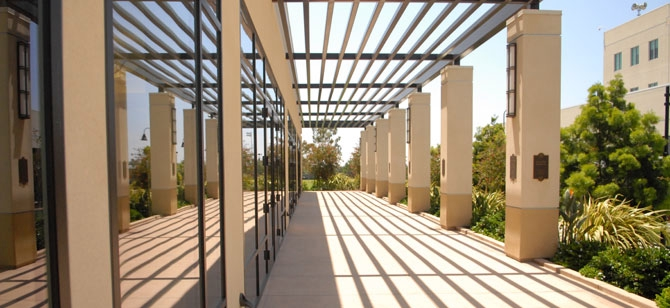 Parma Payne Goodall Alumni Center Aztec Walk Patio