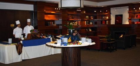 Event setup in the Parma Payne Goodall Alumni Center Allan Bailey Library