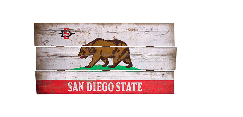 San Diego State California Wooden Sign