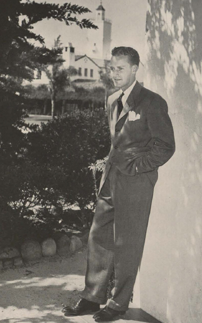 1941 yearbook photo of Harry Hodgetts