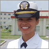 Navy Lt. Florence Bacong Choe ('01). U.S. Navy photo