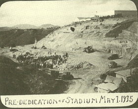 Pre-Dedication of Aztec Bowl