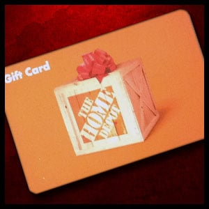 $40 The Home Depot gift card