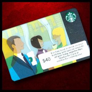 $40 Starbucks gift card